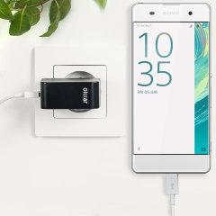 Chargez votre Sony Xperia XA ou n'importe quel autre appareil de type USB avec rapidité et simplicité grâce à ce chargeur secteur haute puissance de 2.4A. Ce kit comprend un chargeur secteur EU et un câble Micro USB vers USB.