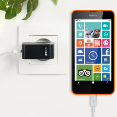 Olixar High Power 2.4A Microsoft Lumia 630 EU Ladeadapter mit Kabel
