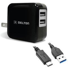 High Power 2.1A USB-C Wall Charger - USA Mains