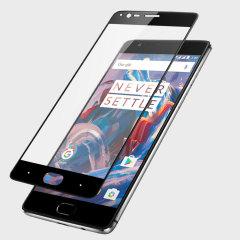 Håll din OnePlus 3T / 3 skärm i fantastiskt skick med det här Olixar skrämskyddet av Tempererat glas, som täcker och skyddar även de krökta ytterkanter hos telefonens unika display.