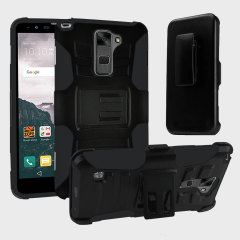 Equip your LG K8 with military grade protection and superb functionality with the ultra-rugged Combo case in black from Zizo. Coming complete with a handy belt clip / kickstand, the Robo Combo case is the perfect companion for your LG K8.