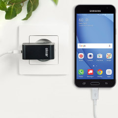 Charge your Samsung Galaxy J3 2016 and any other USB device quickly and conveniently with this compatible 2.4A high power micro USB EU charging kit. Featuring an EU wall adapter and micro USB cable.
