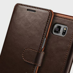 The Verus Dandy Wallet Case in brown for the Samsung Galaxy Note 7 comes complete with card slots, a large document pocket and is made with a luxurious leather-style material for a classic, prestige and professional look.