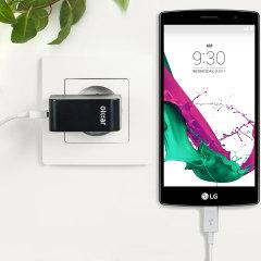 Cargue su LG G4 o cualquier otro dispositivo mediante conexión USB de manera rápida y eficaz. Este cargador de red Olixar tiene una salida de 2.4A para una carga rápida e incluye un cable Micro USB.