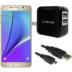 High Power 2.1A Samsung Galaxy Note 5 Wall Charger - USA Mains