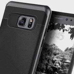 Fabricada de un conocido material, el TPU, en combinación con el policarbonato, esta funda Caseology Wavelenght Series para el Samsung Galaxy Note 7 proporciona una excelente protección y un ajuste perfecto.