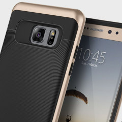 Made from rugged TPU and tough polycarbonate and featuring a stunning waved grip design, the Wavelength Series tough case in black and gold keeps your Galaxy Note 7 safe, slim and stylish.