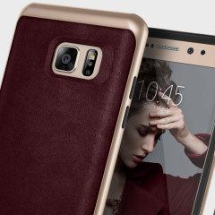 Caseology Envoy Series Galaxy Note 7 Hülle Cherry Oak Leder