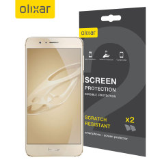 Olixar Huawei Honor 8 Displayschutz 2-in-1 Pack