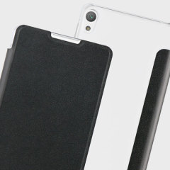 Det officiellt licensierade bokflip-fodralet från Roxfit förvarar din Sony Xperia E5 i ett formanpassat hårt fodral och håller den skyddad med ett mjukt foder och ett elegant utseende.