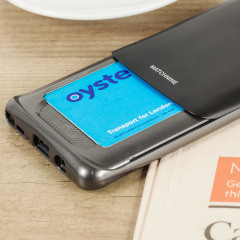 Designed for the Samsung Galaxy Note 7, this black coloured dual layered card case from Matchnine provides a perfect fit and durable protection against scratches, knocks and drops with the added convenience of a credit card-sized sliding slot.