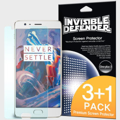 3 pack (plus one extra free) of multi-layered optical enhanced high definition screen protectors for the OnePlus 3T / 3. Features new 'TouchTech' properties for a natural touch and allows for perfect touch screen precision.