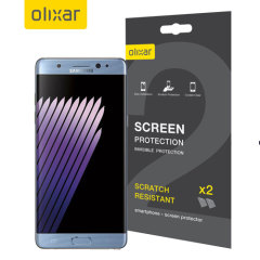Olixar Samsung Galaxy Note 7 Displayschutzfolie  2-in-1 Pack