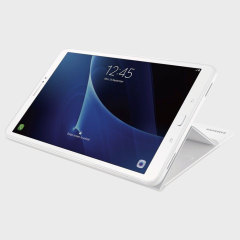Protégez votre Samsung Galaxy Tab A 10.1 2016 des dégâts avec la housse officielle Samsung possédant un rabat intégré pouvant servir de support de visionnage.