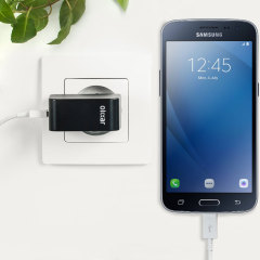 Charge your Samsung Galaxy J2 2016 and any other USB device quickly and conveniently with this compatible 2.4A high power micro USB EU charging kit. Featuring an EU wall adapter and micro USB cable.