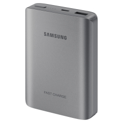 This official USB-C 10,200mAh Fast Charge power bank from Samsung in dark grey is the perfect way to keep your smartphone or tablet charged while out and about. lightweight and universal, and the ideal travel companion for your USB-C smartphone.