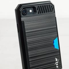Zizo Metallic Hybrid Card Slot iPhone 7 Hülle in Schwarz