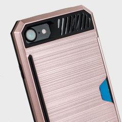 Zizo Metallic Hybrid Card Slot iPhone 7 Hülle in Rosa Gold