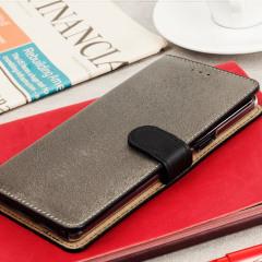 Hansmare Calf Samsung Galaxy Note 7 Wallet Case - Black