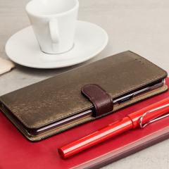 Hansmare Calf Samsung Galaxy Note 7 Wallet Case - Brown