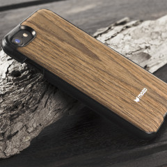 Mozo iPhone 7 Hülle Back Cover Black Walnut