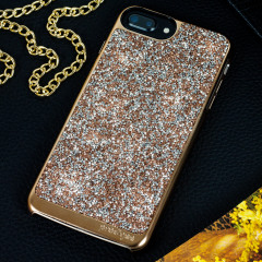 Prodigee Fancee Glitter Case iPhone 7 Plus Hülle in Rose Gold