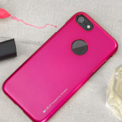 Mercury iJelly iPhone 8 / 7 Gel Case Hülle Hot Pink