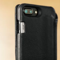 Vaja Wallet Agenda iPhone 7 Plus Premium Leather Case - Black