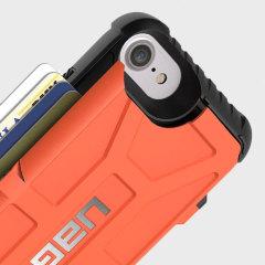 UAG Trooper iPhone 7 Protective Wallet Case Hülle Rust / Schwarz