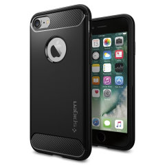 Meet the newly designed rugged armor case for the Apple iPhone 8. Made from flexible, rugged TPU and featuring a mechanical design, including a carbon fibre texture, the rugged armor tough case in black keeps your phone safe and slim.