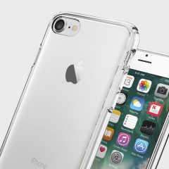 Protect your iPhone 7 with the unique Ultra Hybrid crystal clear bumper from Spigen. Complete with a clear back and air cushion technology to show of and protect your iPhone's sleek modern design.