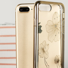 Crystal Flora 360 iPhone 7 Plus Case Hülle in Champagne Gold