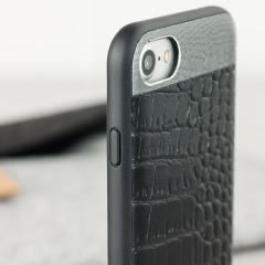 Cette coque en cuir véritable effet crocodile ajoute une touche de sophistication à votre iPhone 8 / 7 tout en lui assurant une excellente protection.