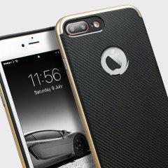 Olixar X-Duo iPhone 7 Plus Hülle in Carbon Fibre Gold