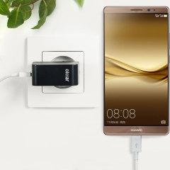 Chargez votre Huawei Mate 8 ou n'importe quel autre appareil de type USB avec rapidité et simplicité grâce à ce chargeur secteur haute puissance de 2.4A. Ce kit comprend un chargeur secteur EU et un câble Micro USB vers USB.