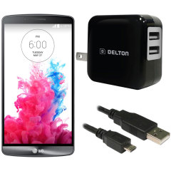 High Power 2.1A LG G3 Wall Charger - USA Mains