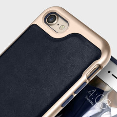 Caseology Envoy Series iPhone 7 Plus Case - Leder Navy Blue