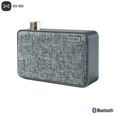 The Emie Canvas Bluetooth Speaker in black combines a sleek, cool canvas design with professionally tuned sound quality and Bluetooth connectivity to create a speaker you'll want to use both indoors and outdoors.