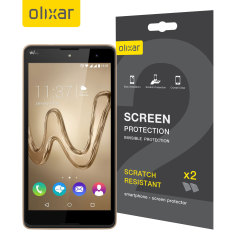 Keep your Wiko Robby screen in pristine condition with this Olixar scratch-resistant screen protector 2-in-1 pack.