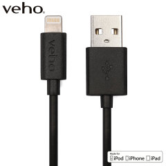 Make sure your Lightning devices are always fully charged with the Veho Charge & Sync Lightning to USB Cable in black for Apple Lightning compatible devices. This cable is certified MFi by Apple for use with their products. 1 Metre length.