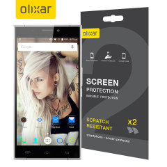 Keep your Doogee F5 screen in pristine condition with this Olixar scratch-resistant screen protector 2-in-1 pack.