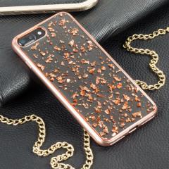 Prodigee Scene Treasure iPhone 7 Plus Case - Rose Gold Sparkle