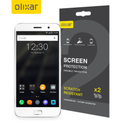Keep your Lenovo Zuk Z1 screen in pristine condition with this Olixar scratch-resistant screen protector 2-in-1 pack.