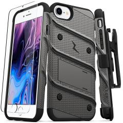 Zizo Bolt Series iPhone 7 Tough Case Hülle & Gürtelclip Schwarz / Grau