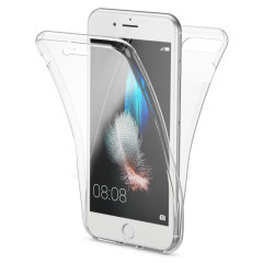 Olixar FlexiCover Complete Protection iPhone 7 Gel Case Hülle in Klar