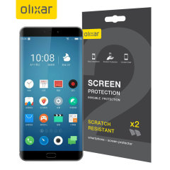 Keep your Meizu Pro 7 screen in pristine condition with this Olixar scratch-resistant screen protector 2-in-1 pack.