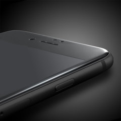 Olixar Full Cover Tempered Glas iPhone 7 Plus Displayschutz in Schwarz