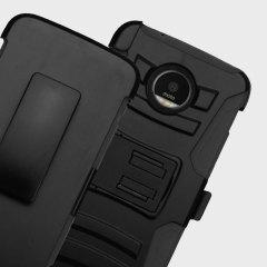 Zizo Robo Combo Motorola Moto Z Tough Case & Belt Clip - Black