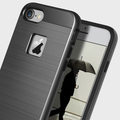 Obliq Slim Meta iPhone 7 Case - Titanium Zwart