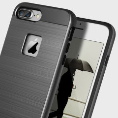 Obliq Slim Meta iPhone 7 Plus Case - Titanium Zwart